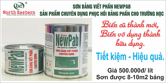 Sơn bảng viết phấn Newpab